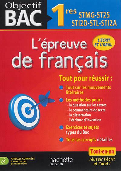 annales bac français